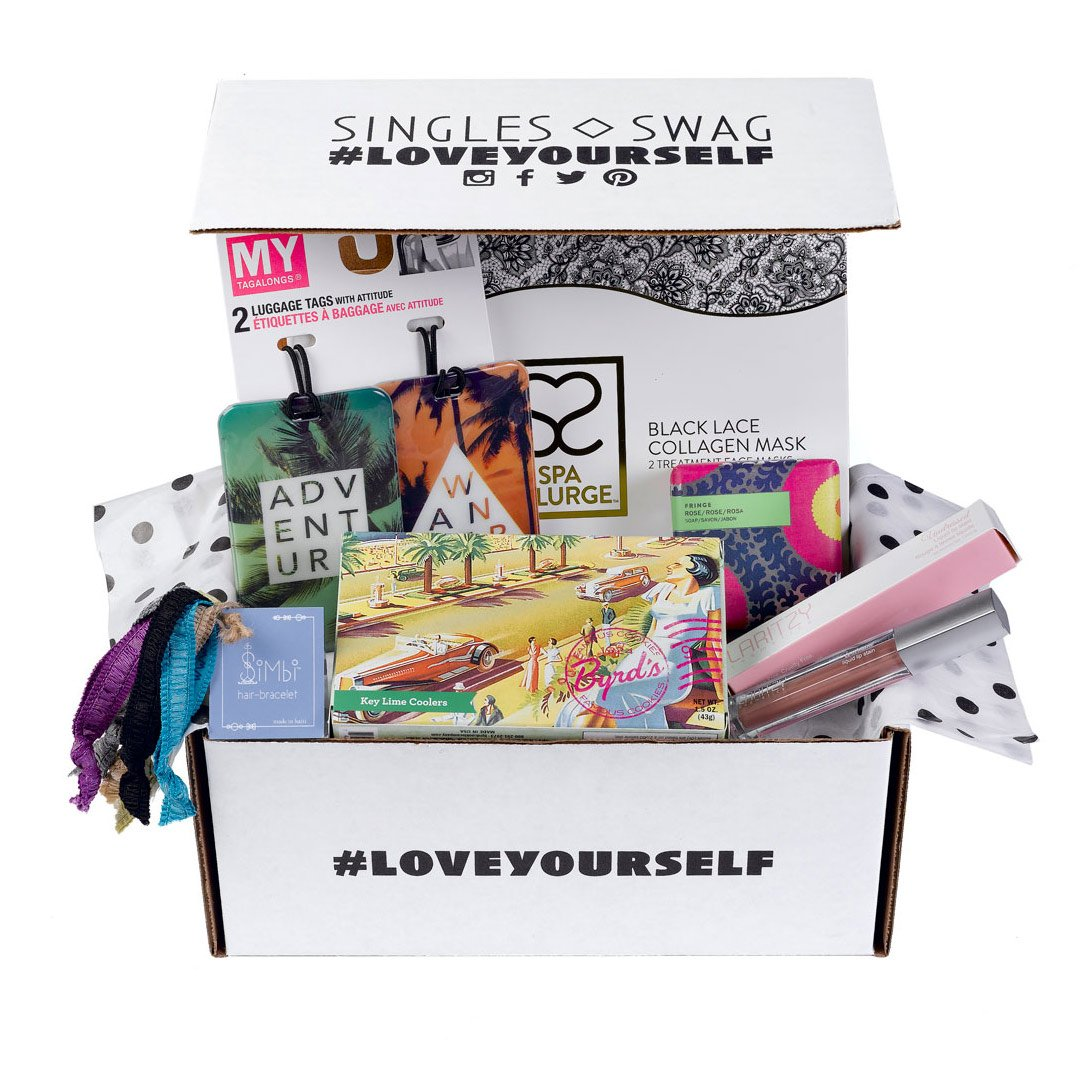 Singles Swag  is the first monthly subscription service designed exclusively for  single  women.  Treat yourself with some fabulous swag!