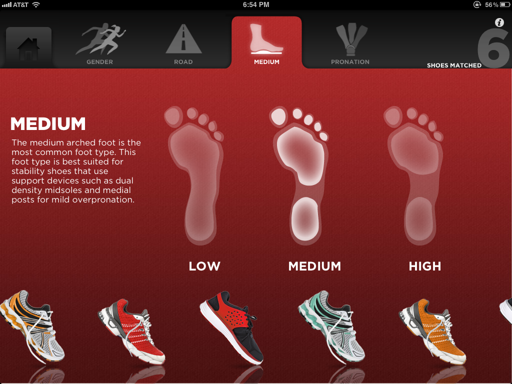 Shoe Selector demo (iOS)