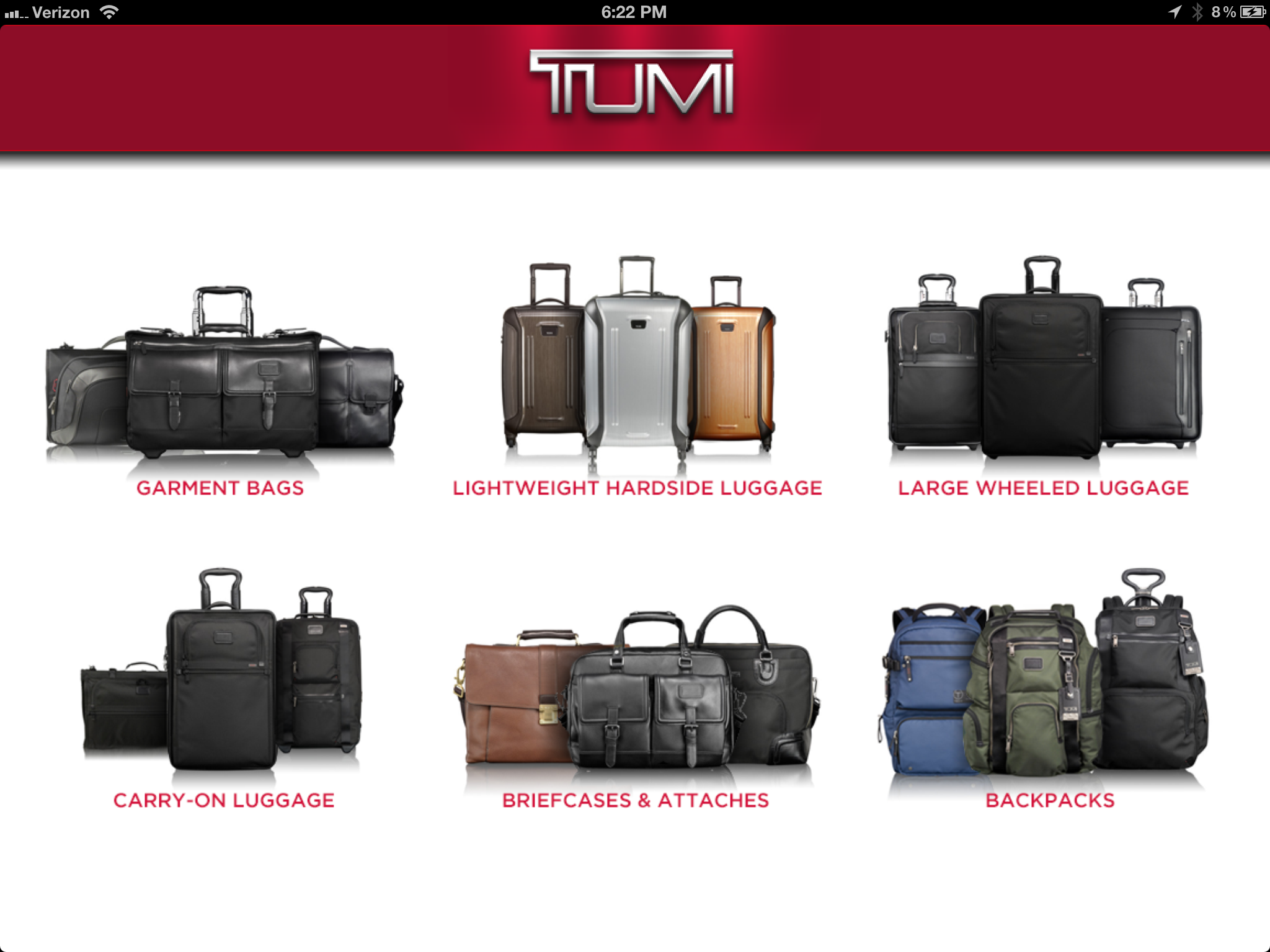 Tumi Luggage Selector (iOS)