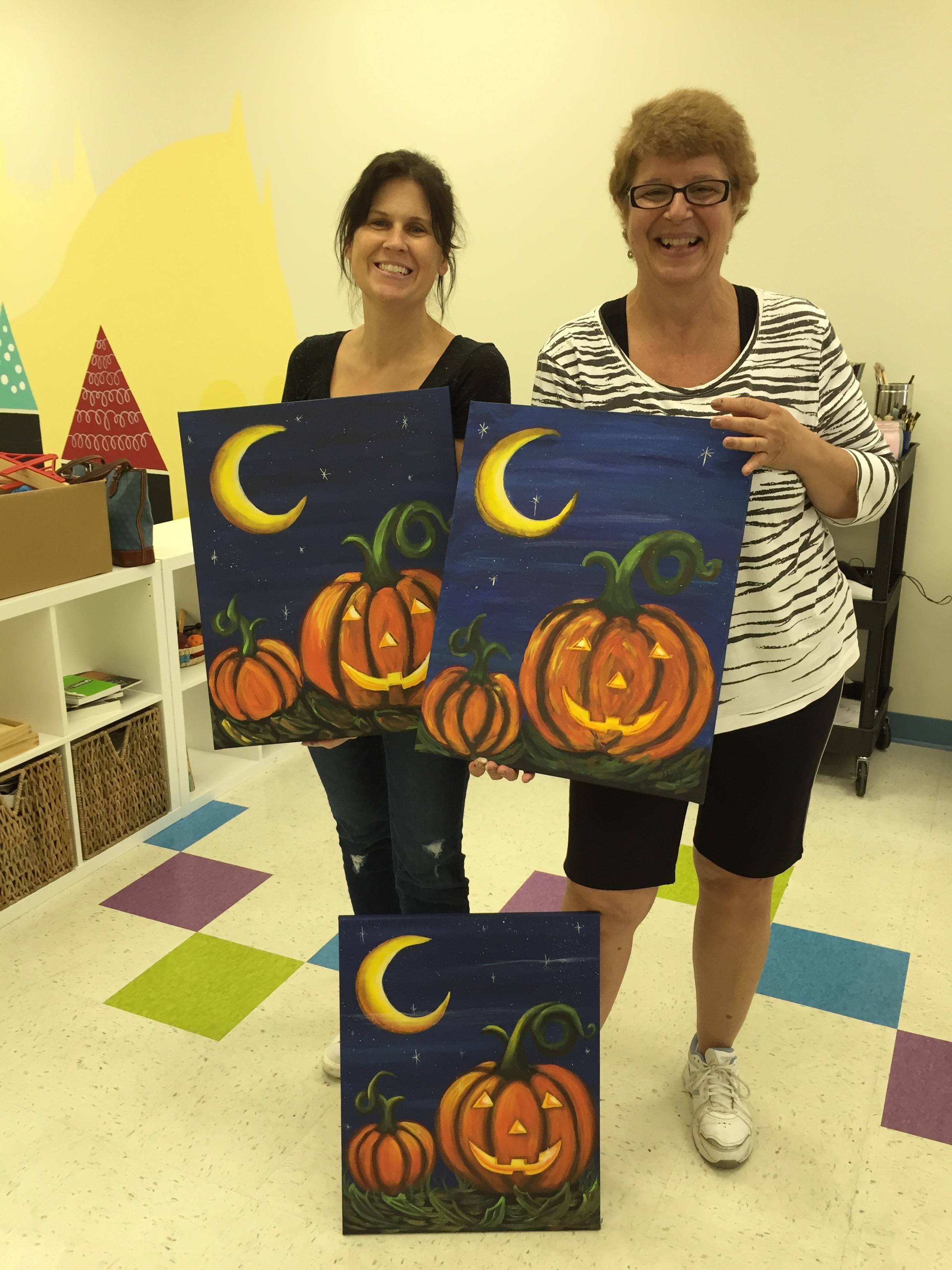 Pumpkin Night painting class