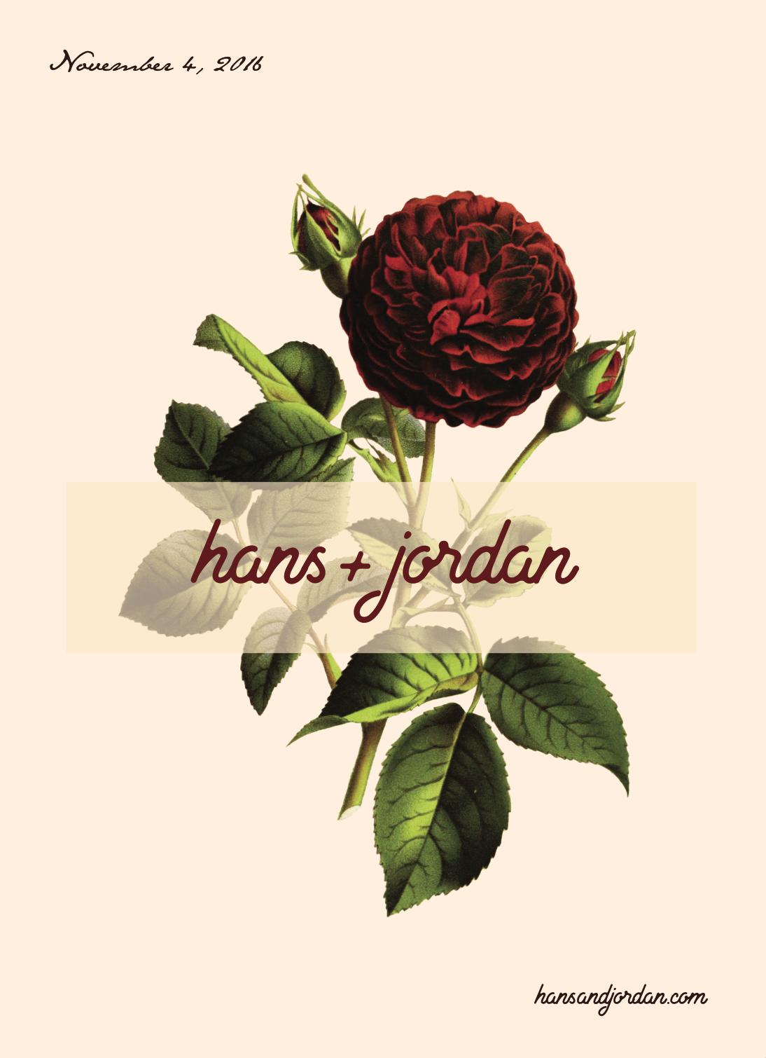 hans + jordan wedding invitation