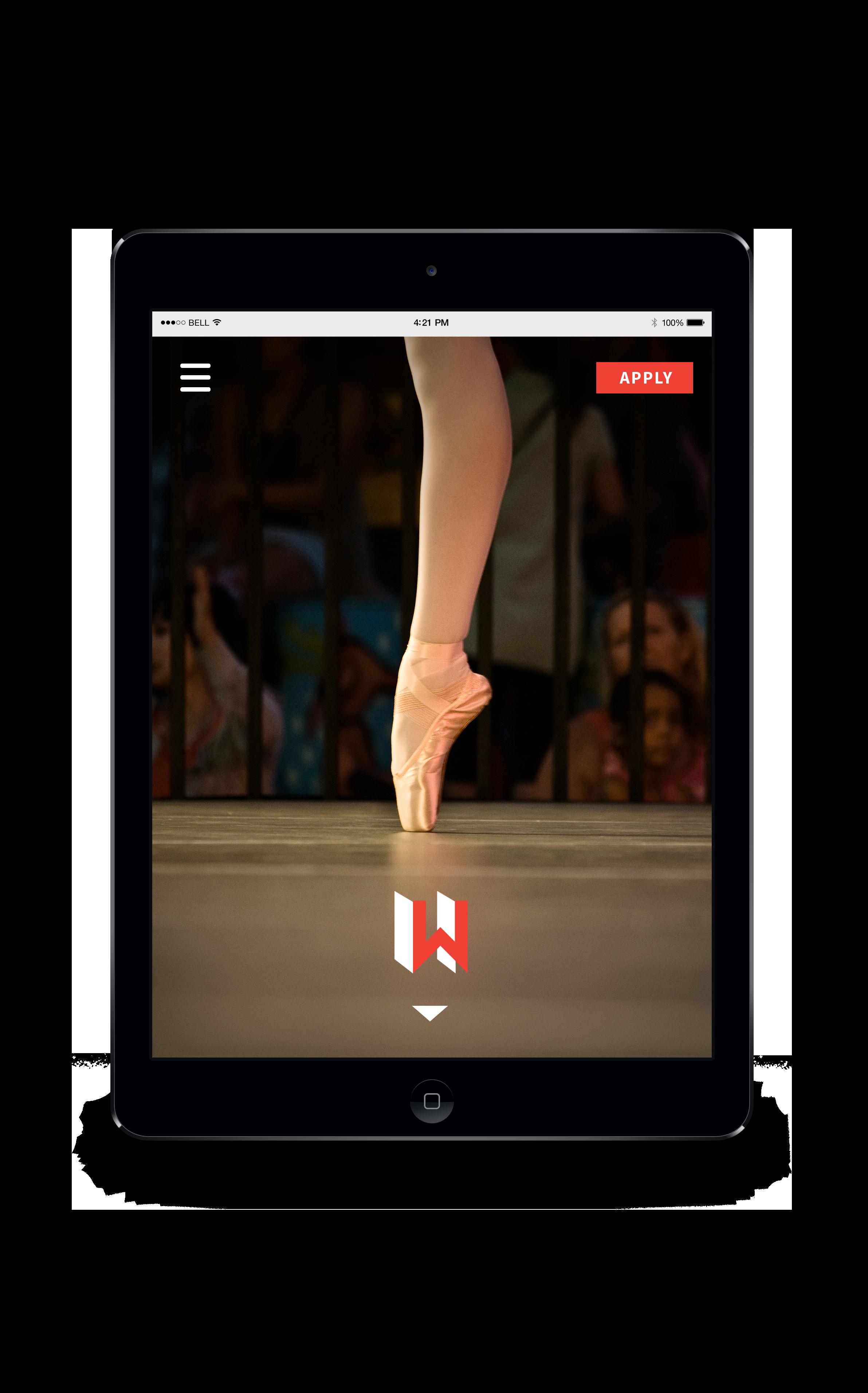 iPad View - Website Homepage
