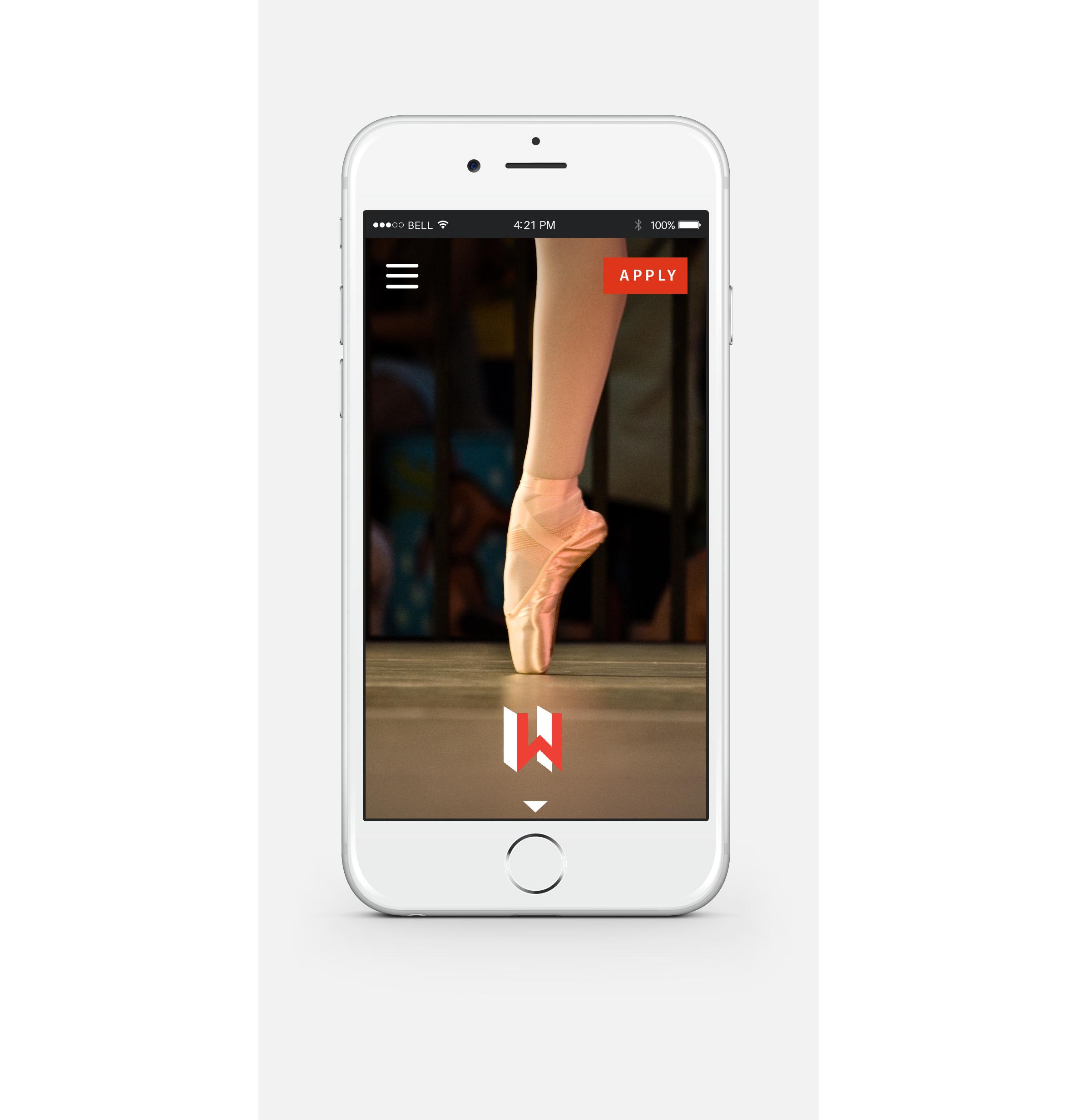 iPhone View - Website Homepage