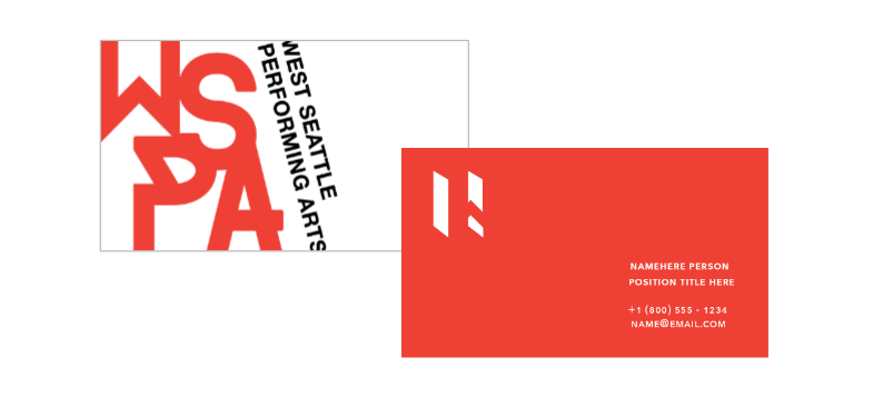 Business card - Front and back