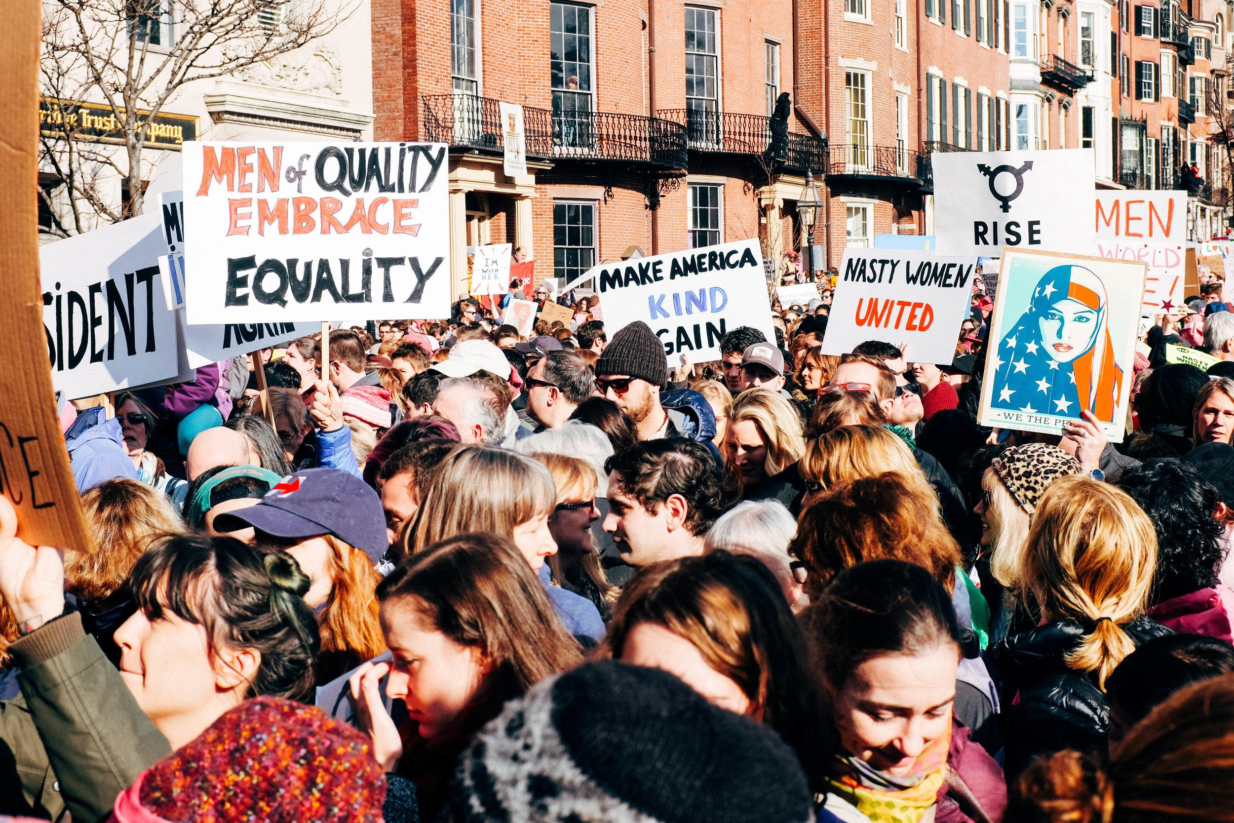 Women's March in Boston
