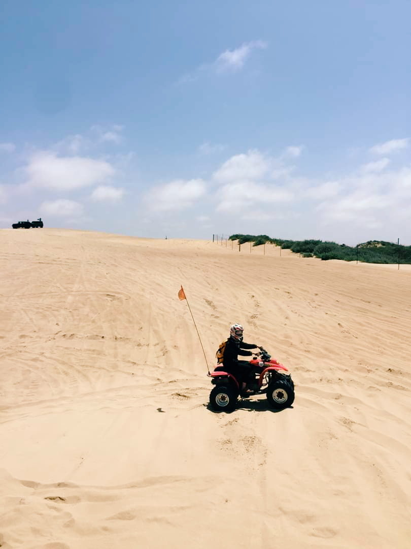 First time ATV-ing at Oceano Dunes near Pismo Beach, California.