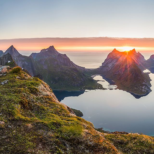 I recently just got back to Bergen from ticking off the top item on my #travel #bucketlist... Lofoten! We were incredibly lucky with the weather during the 10 days we spent tramping (Kiwi 🇳🇿 term for multi-day hiking) and camping around this epic part of the world ⛰😦👌 So many landscapes and panoramas to process and stitch like this one from Top 730 just past the infamous #Reinebringen. Watch this space and make sure to swipe ➡️ @NikonNZ @LeeFilters @visitnorway @mittnordnorge 📷 #Nikon #D810 17-35mm f/2.8 at 17mm, f/11, 0.5s, ISO 31
