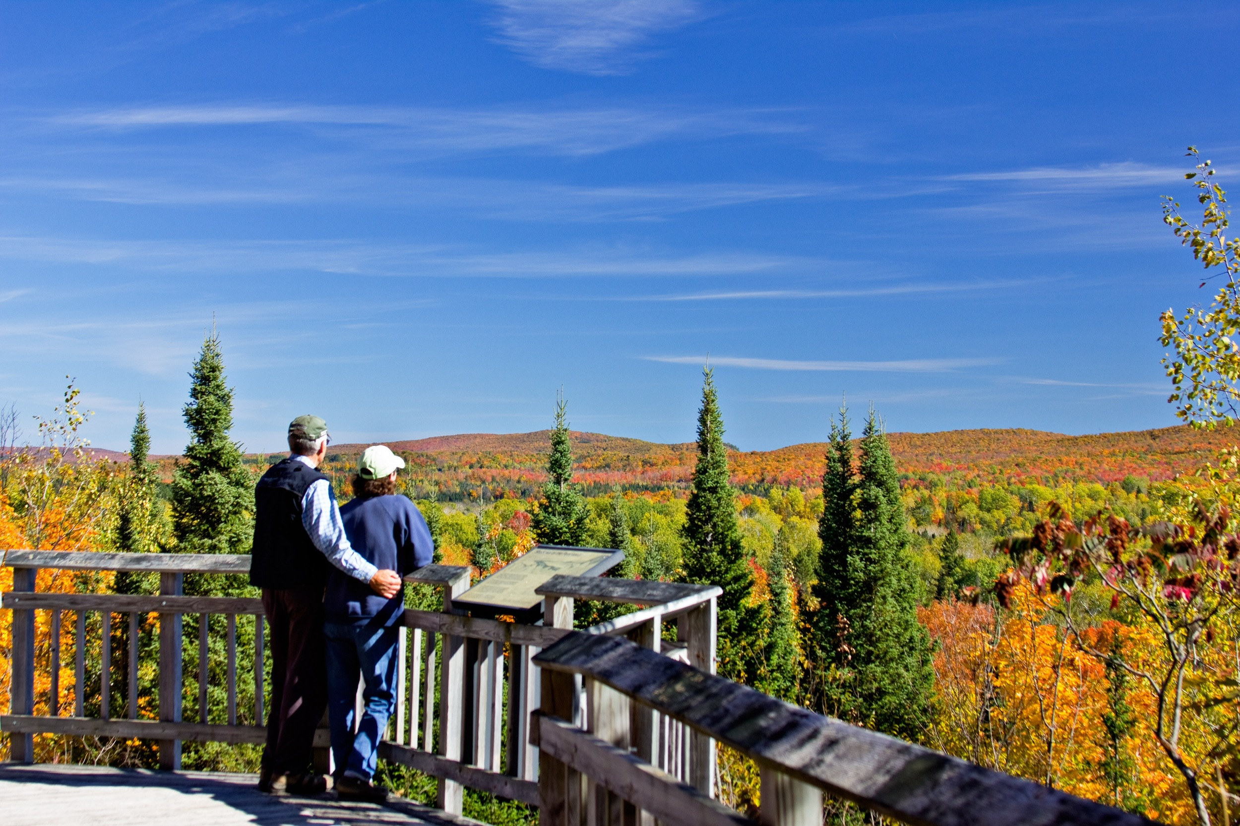 Penokee overlook at peak fall color.  (Click to enlarge)