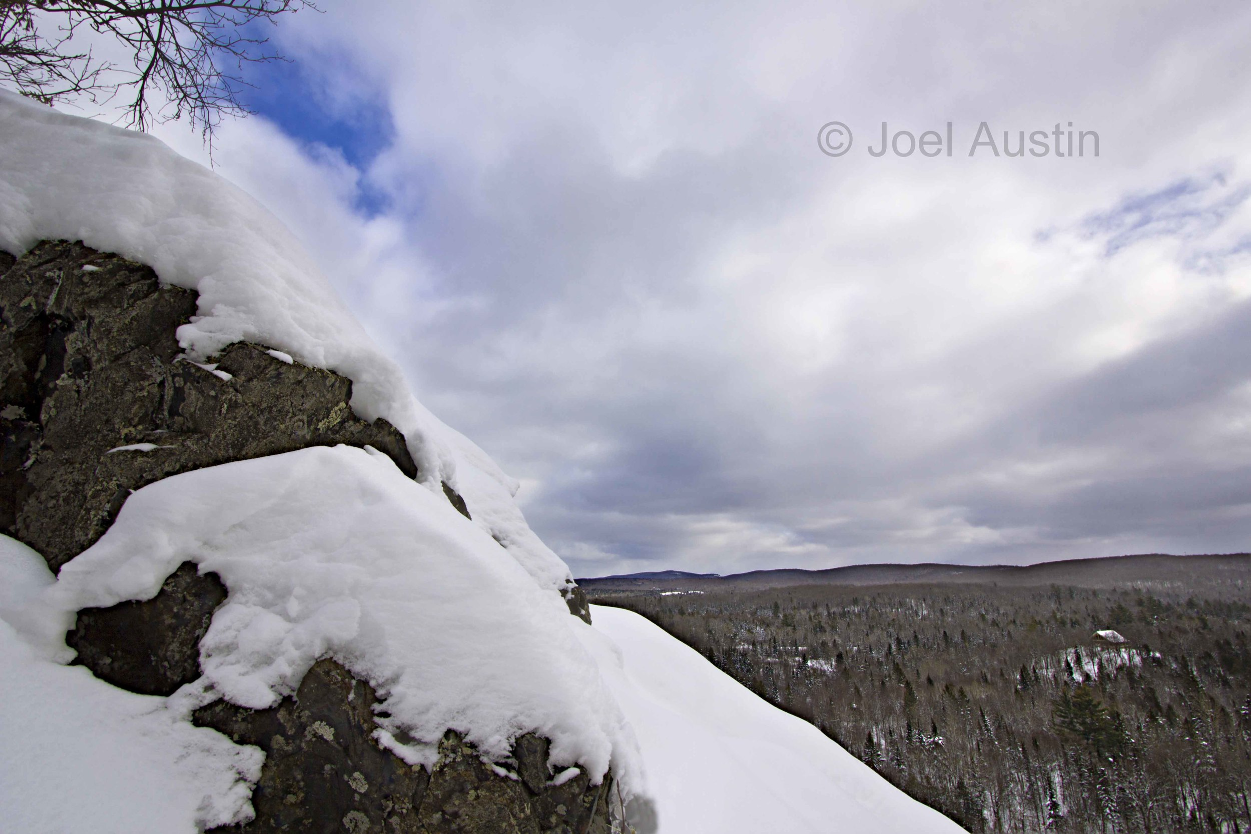 Wintery view from Voigt's Knob