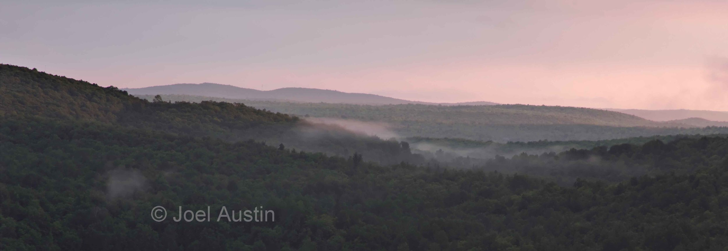 Misty Sunset at Corrigan's Lookout