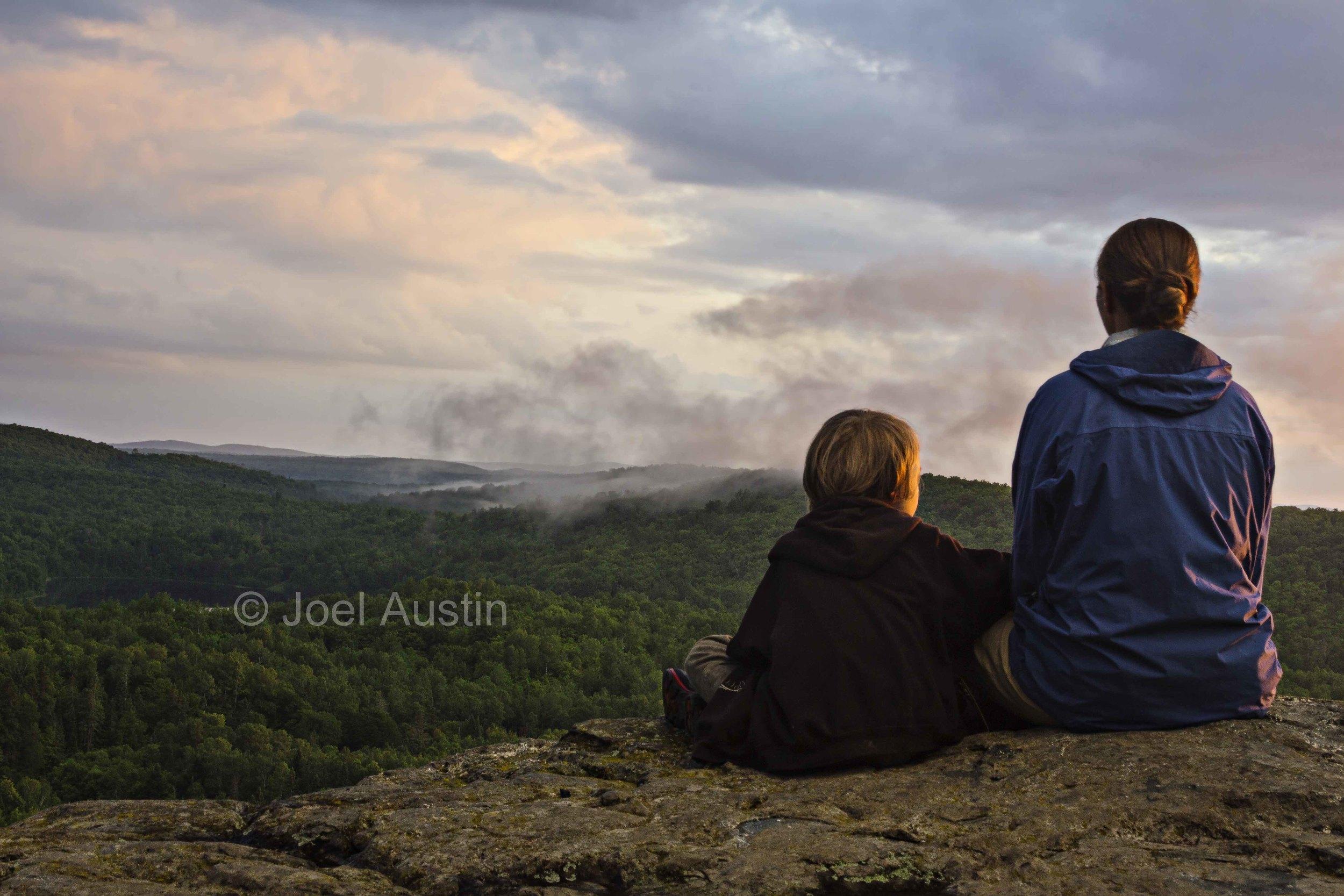 Enjoying the sunset at Corrigan's Lookout