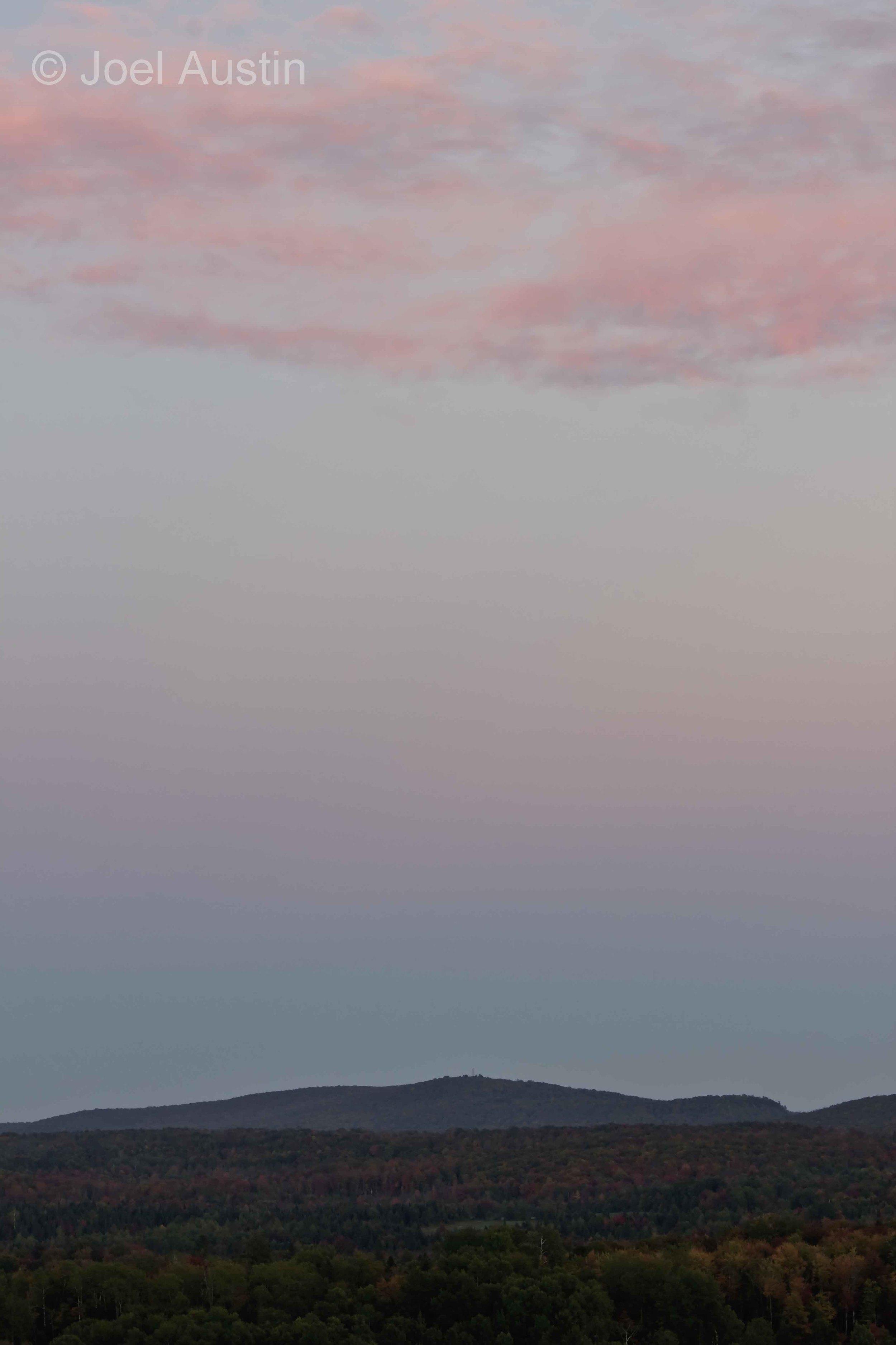 Quiet sunset from Voigt's Knob