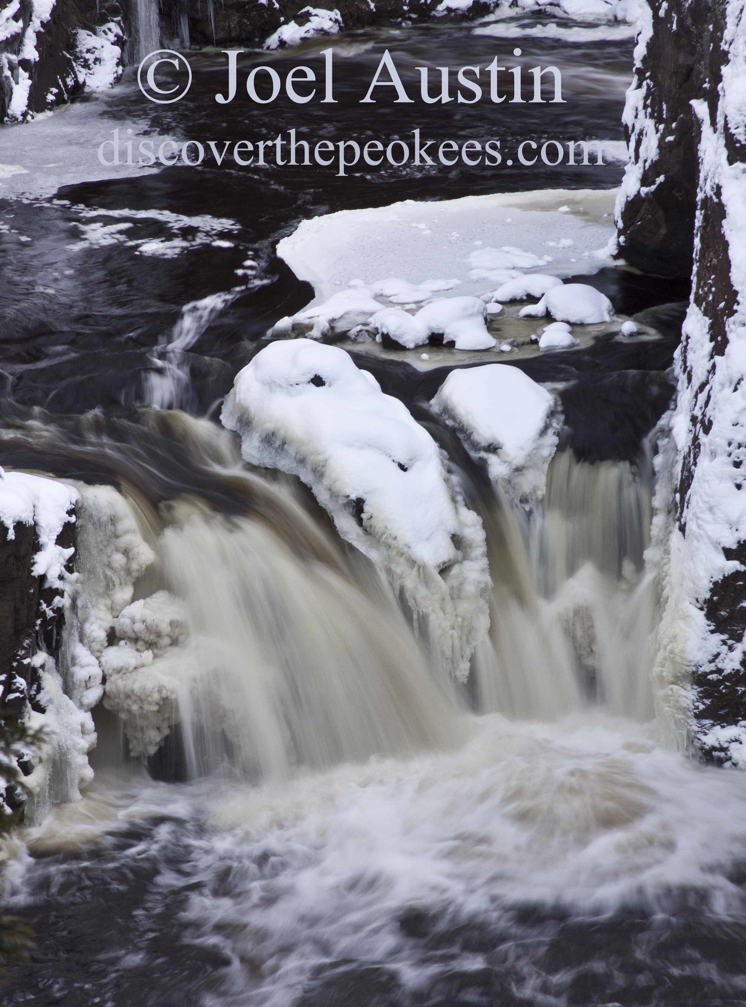 A wintery Copper Falls, at Copper Falls State Park.