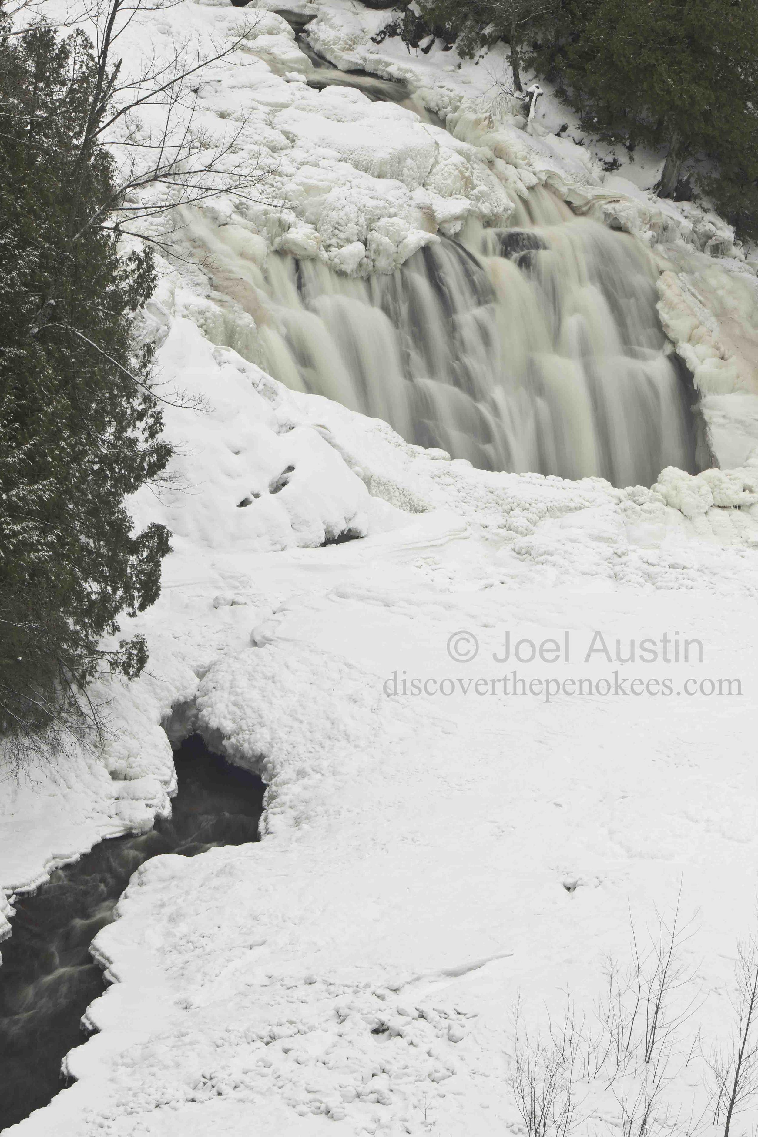 Frozen Potato River Falls.