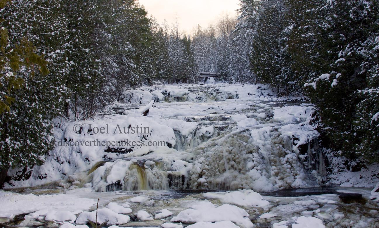 Wintery Potato River Falls.