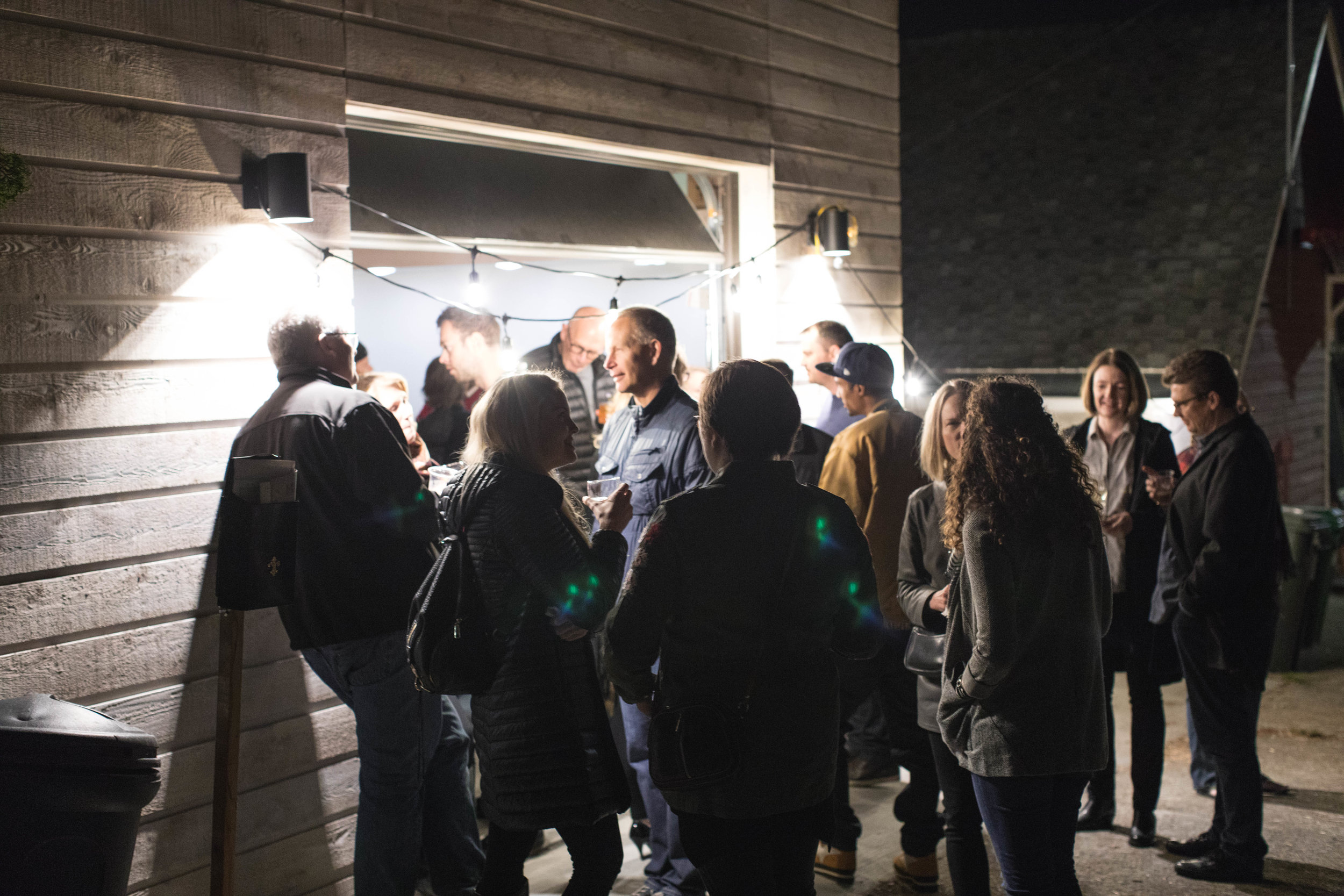 The night we launched the kitchen with a bunch of wonderful people. October 14, 2017. Photo credit: Quiwaan Little.