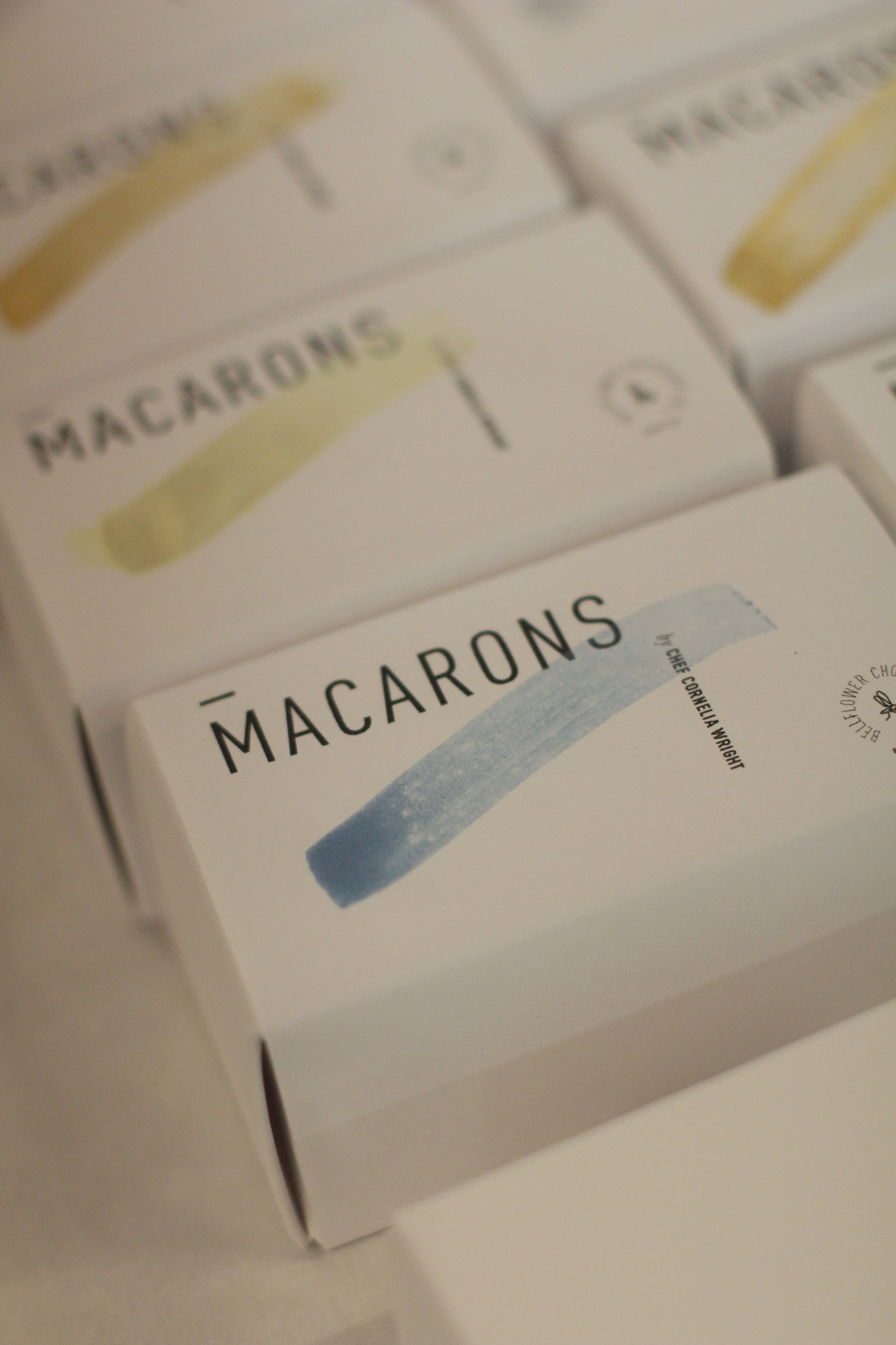Final macaron packaging, at least for this MVP batch. At Omfk., May 11, 2018.