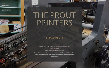 The Prout Printers, Troy, NY