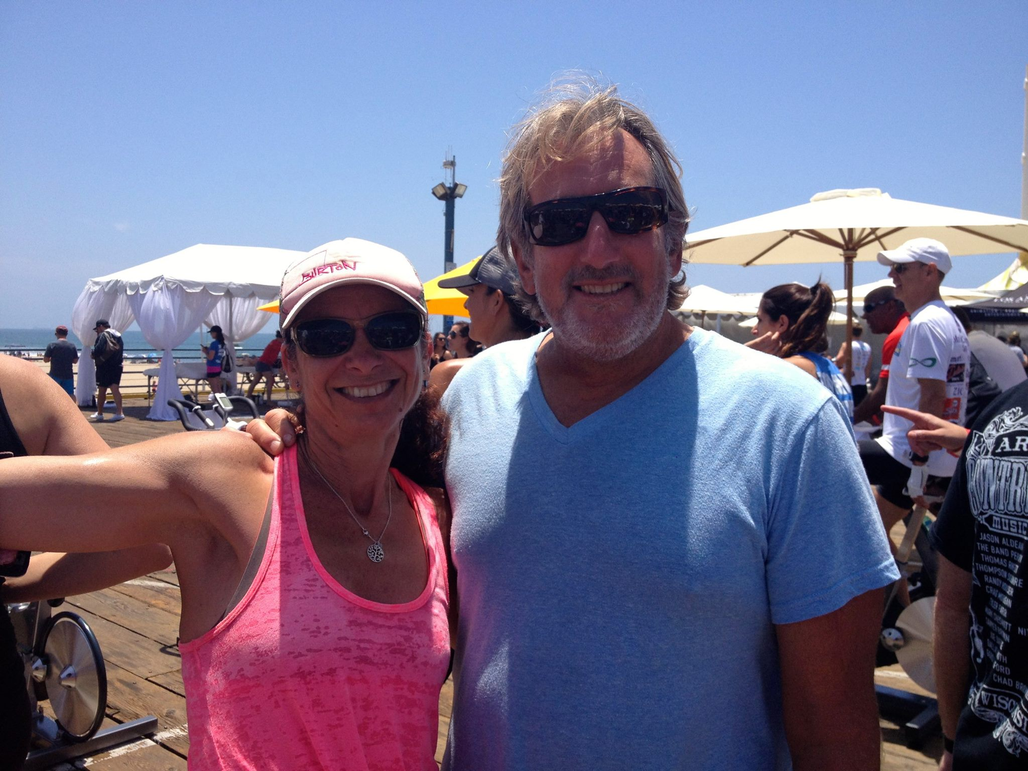 """Jennifer and Larry @ """"Pedal on the Pier"""" supporting the Harold Robinson Foundation"""