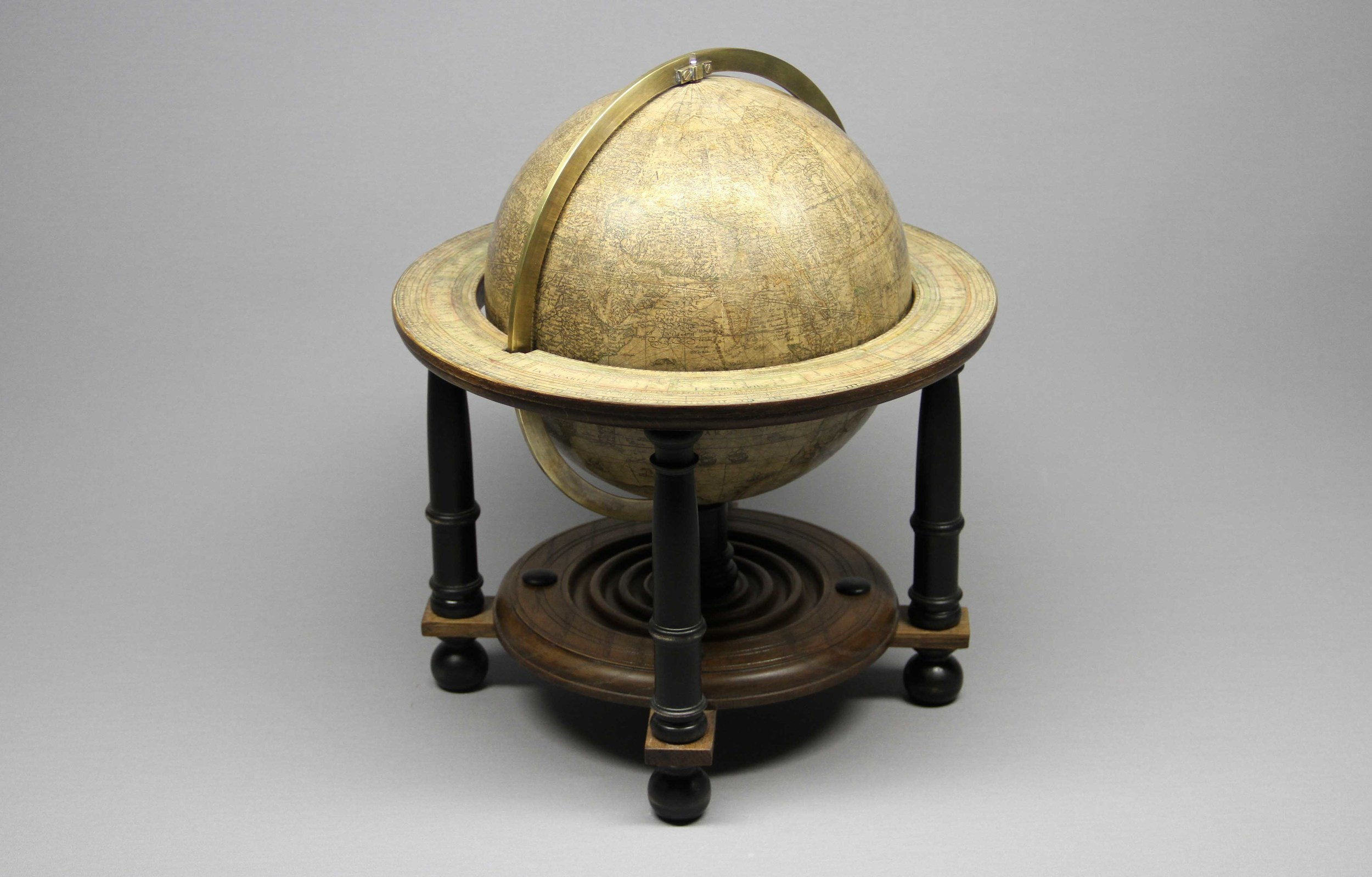 Blaeu,  Terrestrial Globe  .  [After restoration and complete reconstruction of stand.]