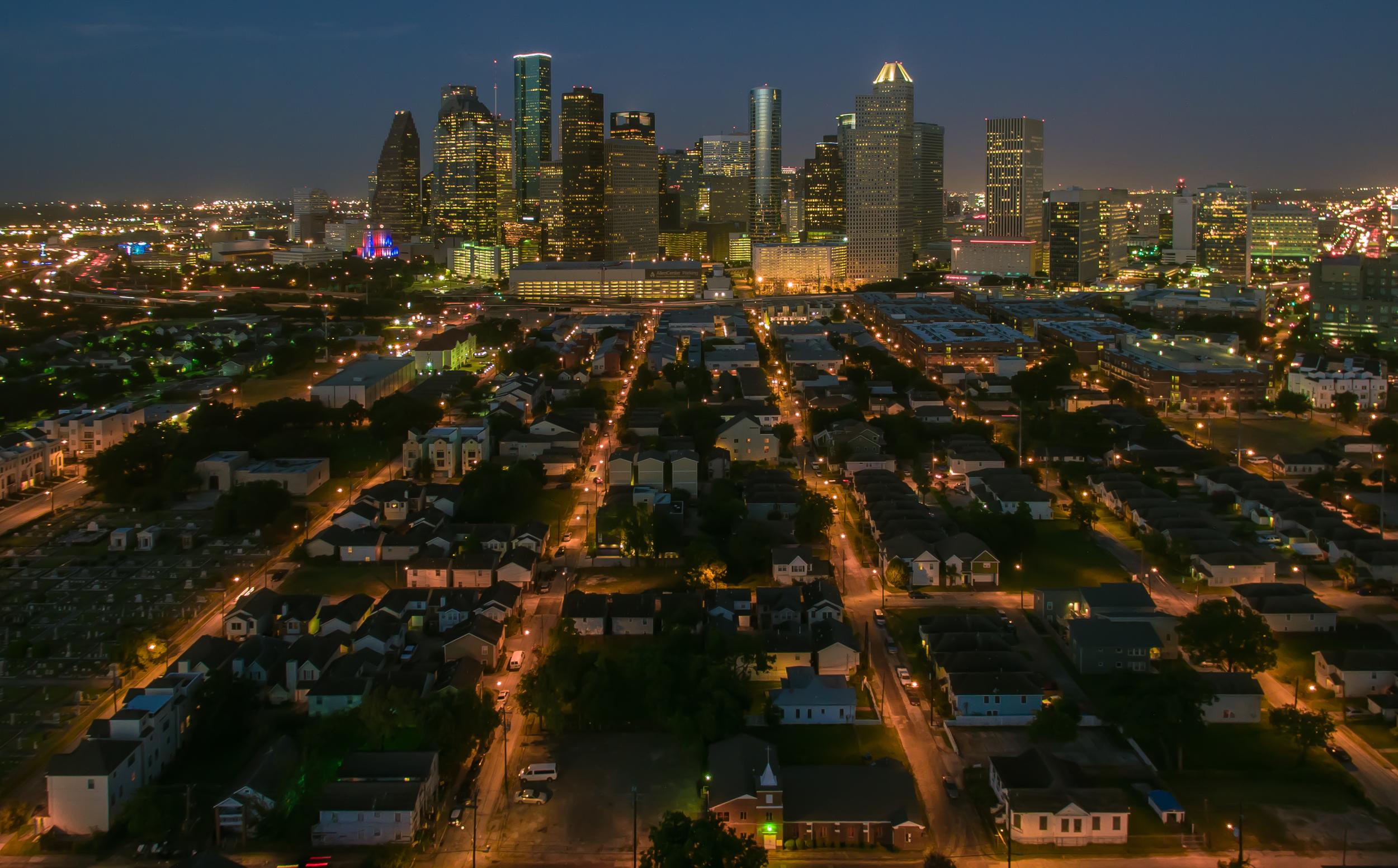 Urban Skyline at NIght Jim Wiehoff