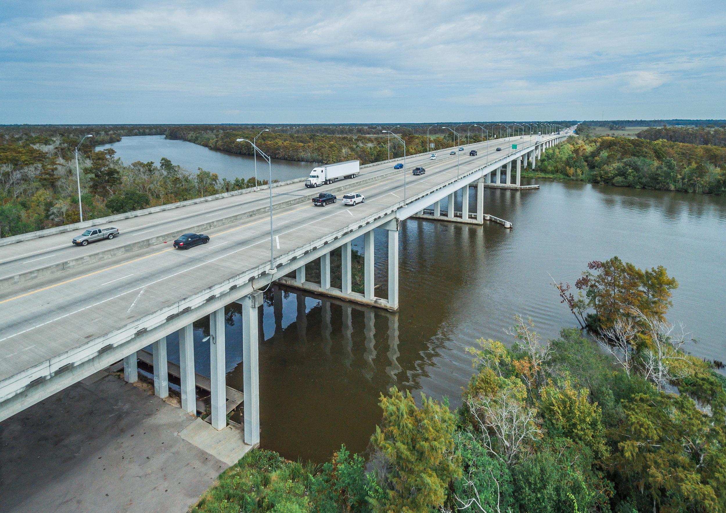 Sabine River Highway Photograph