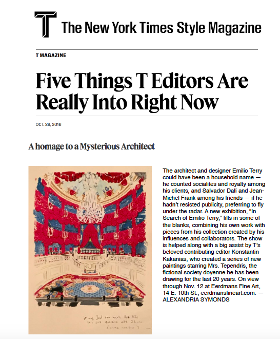 T Magazine - Five Things T Editors Are Really Into Right NowOctober 2016