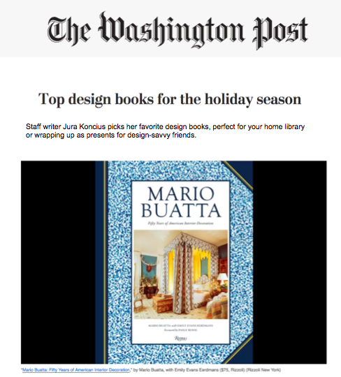 Washington Post - Top design books for the holiday seasonNovember 2013