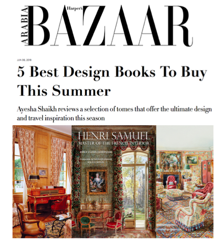 Harper's Bazaar - 5 Best Design Books To Buy This SummerJune 2018