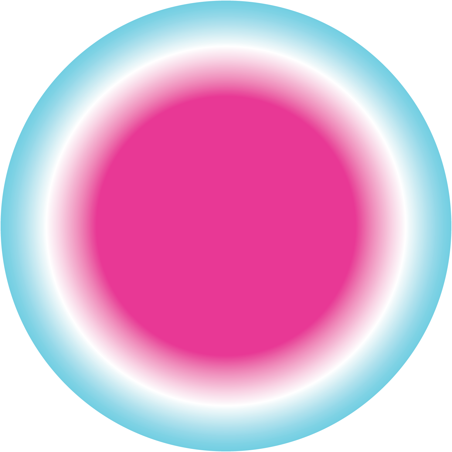 Breathing visualization #3: blue ring + pink orb which triggers w/ heart beat