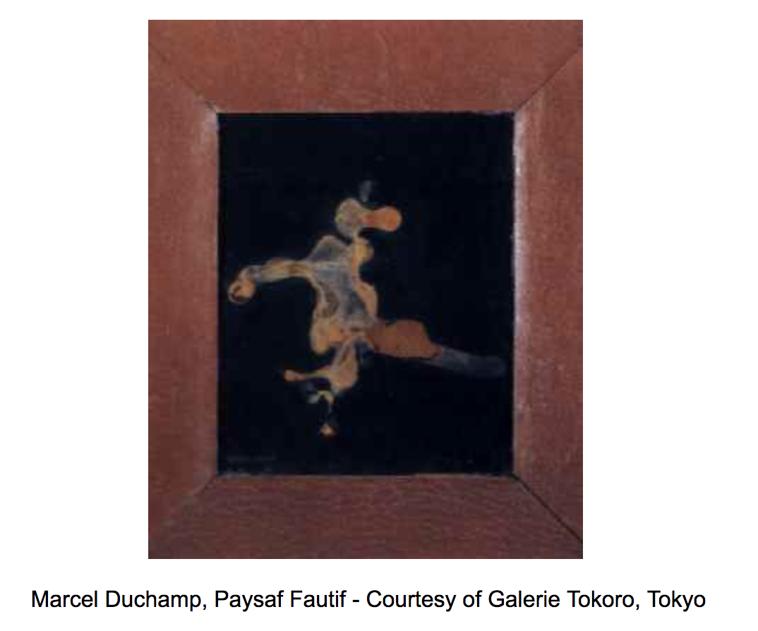 Marcel Duchamp's Sinning Landscape (1946) was made with semen on black velvet.