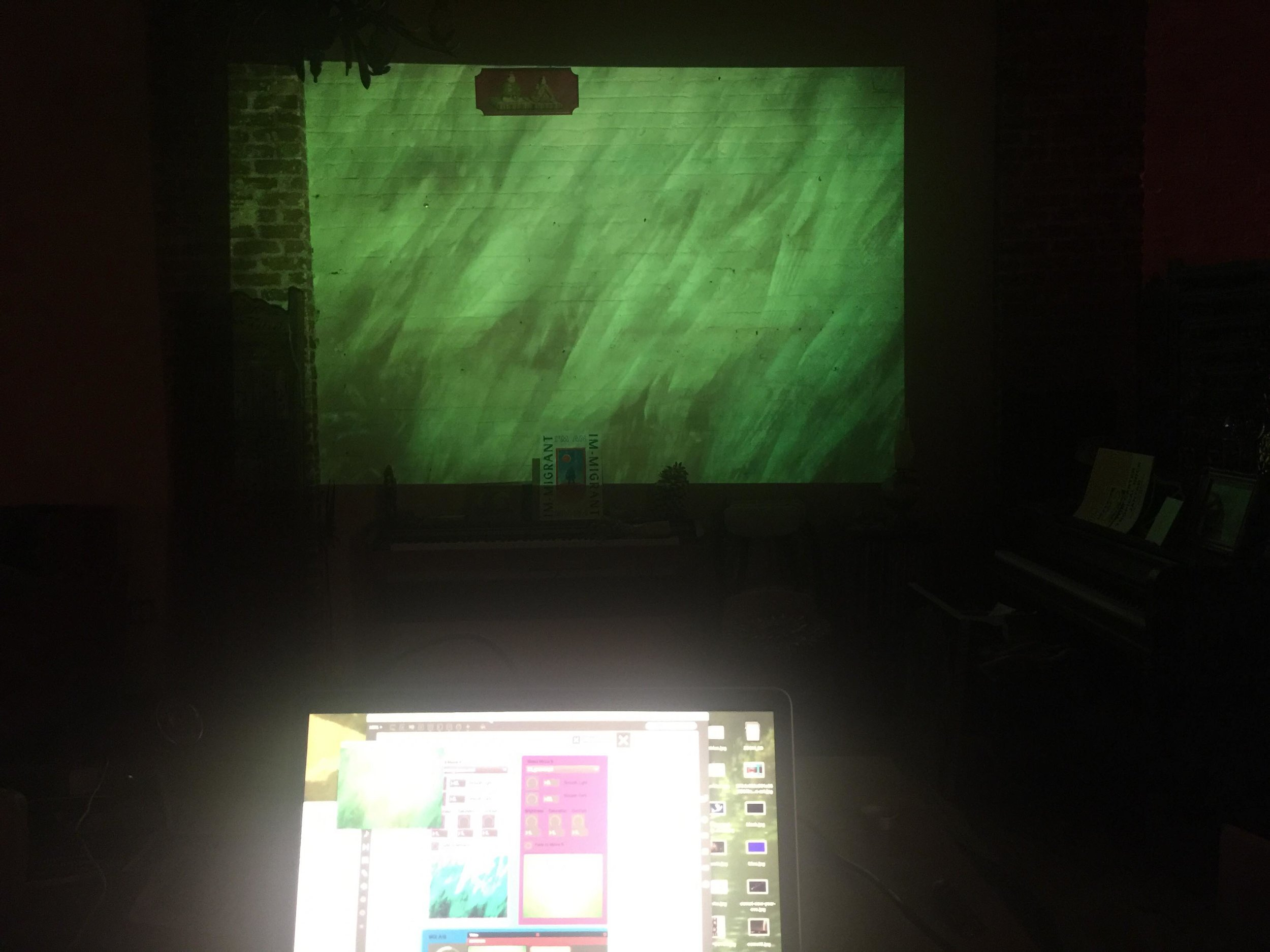Playing w/ projector from ITP - different screen shots...