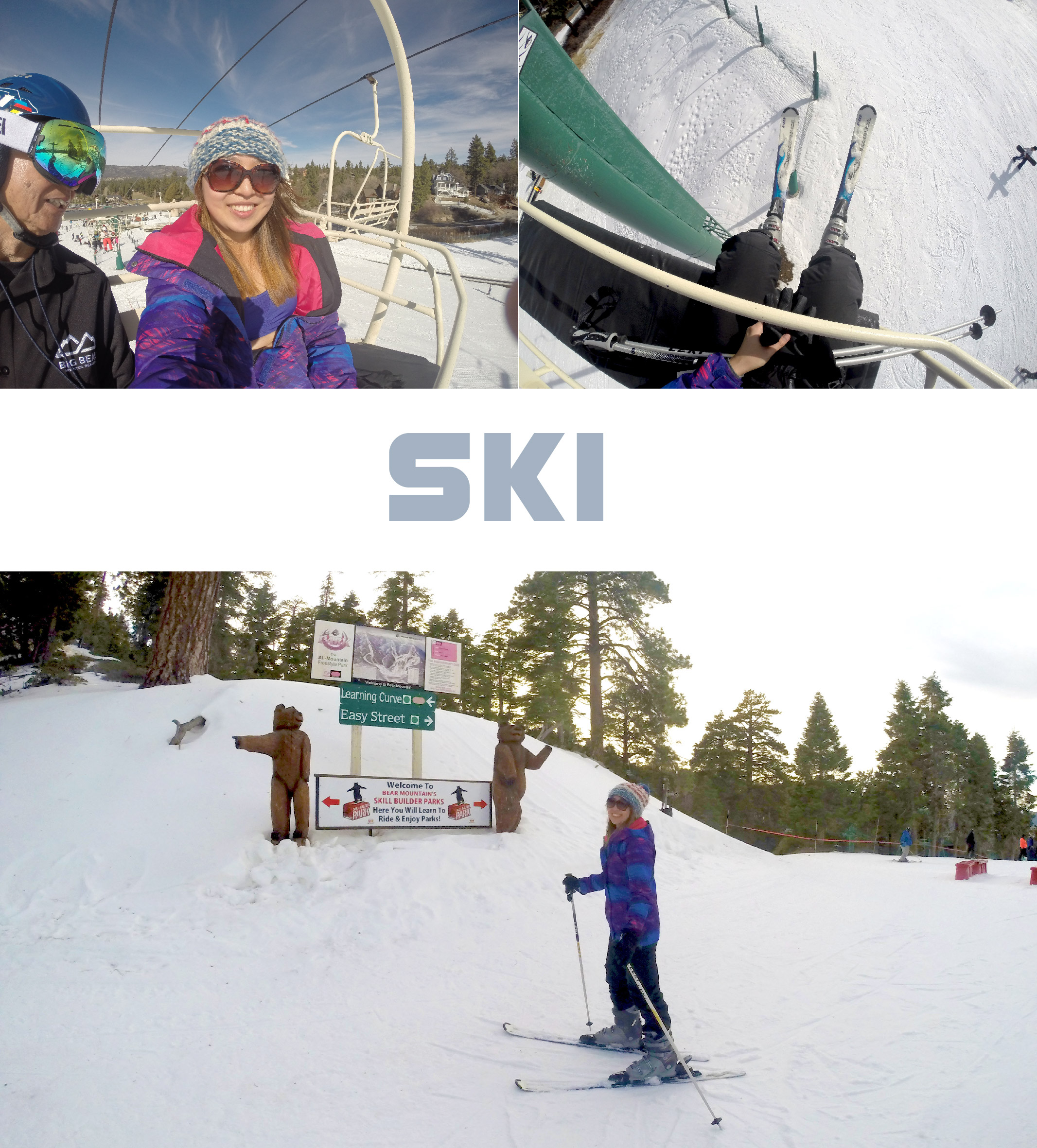 """Ski was fun but the boots were not as comfortable as snowboarding boots. At the end of the day, I was able to slide down by """"pizza"""" shape and change my direction."""