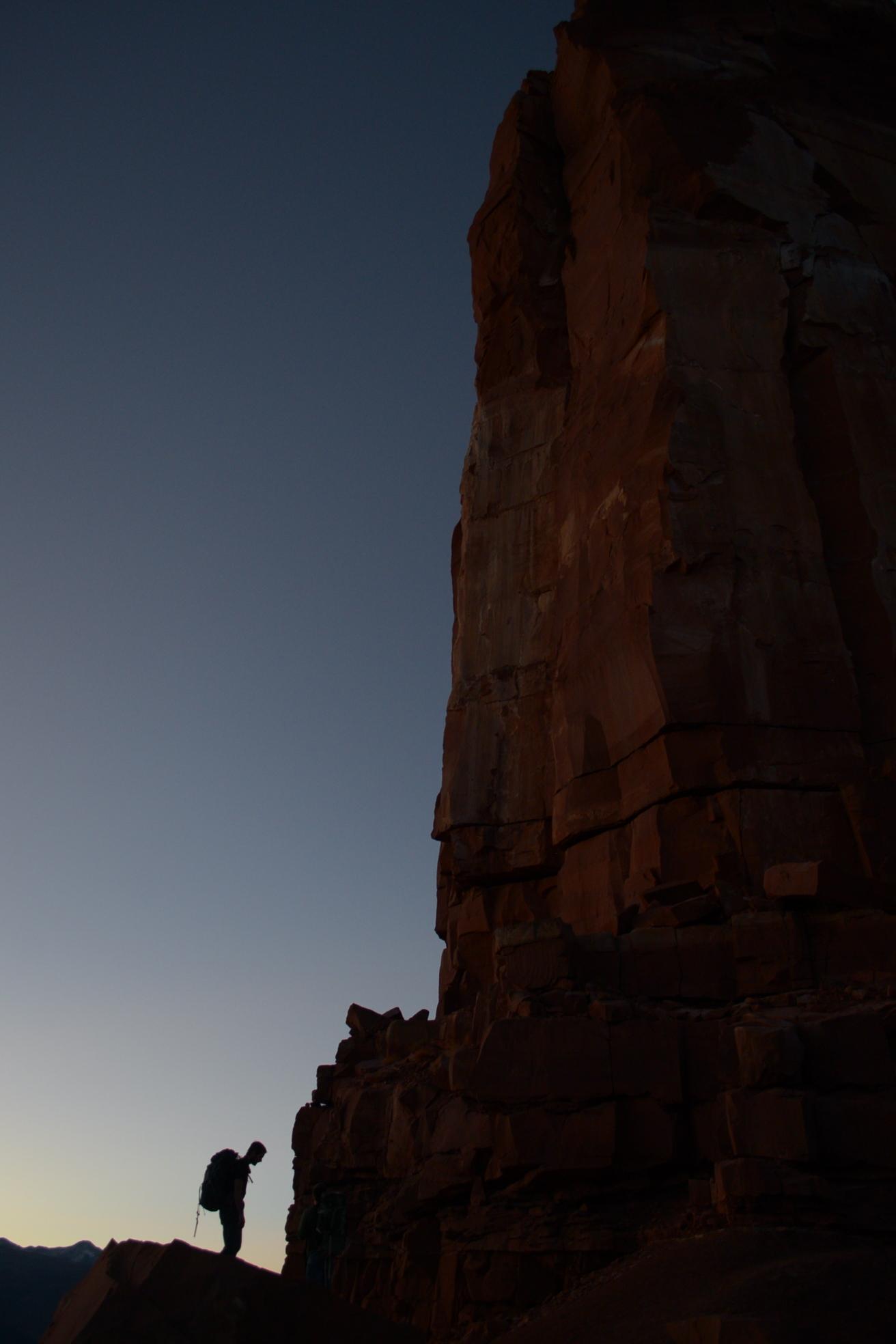 Dawn, ready for the climb.