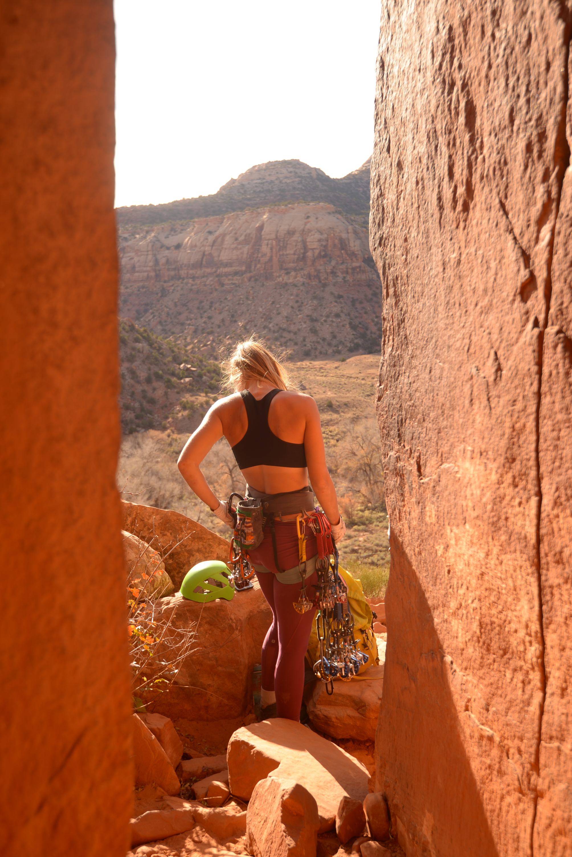 Meagan gears up for Cave route 10d