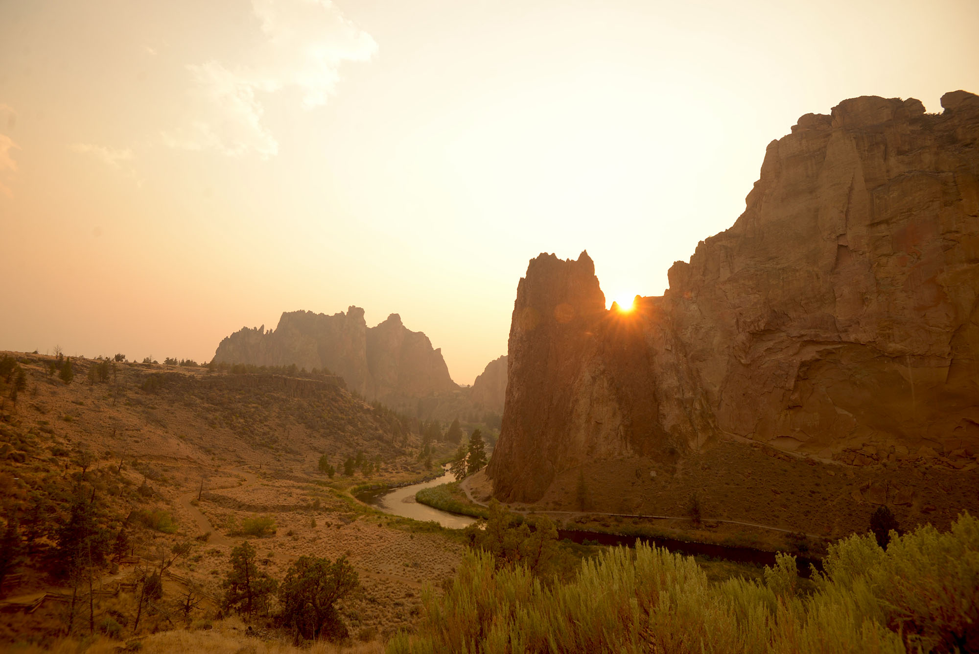 Smith Rock is truly beautiful. It's one of the earliest sport climb area in the US.
