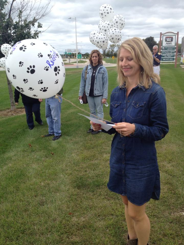 Balloon release Pet Memorial with Peaceful Pets