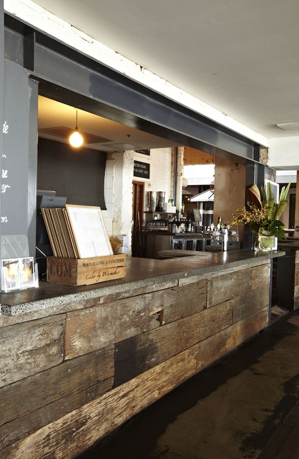 Hotel Steyne Manly Seaside Bar Recycled Timber
