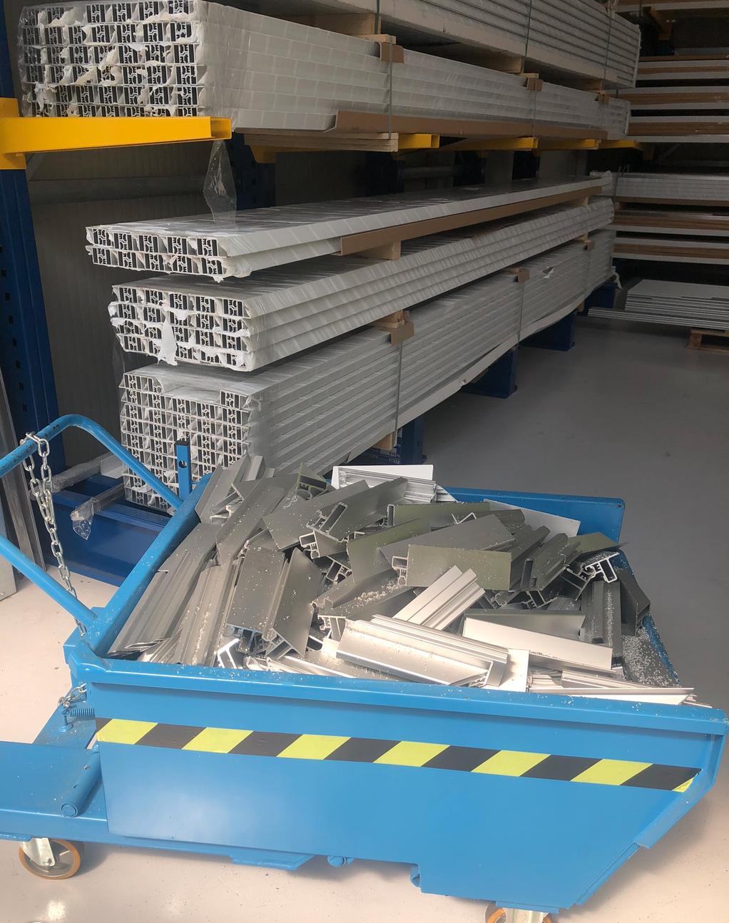 ▲百分之百可回收的鋁材損料收集再利用