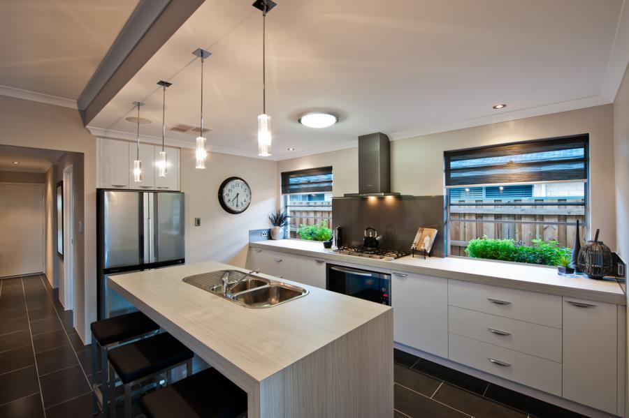 Beautiful home kitchen glass windows
