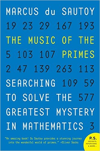 The Music of the Primes   Author: Marcus du Sautoy Category: Mathematics Publishing Year: 2012 Length:  368 pages Difficulty:  moderate, Math terms involved