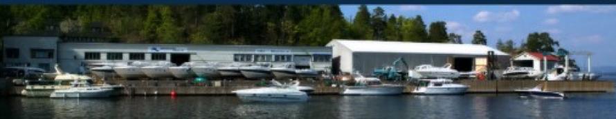 Vollen Båtservice sett fra sjøen