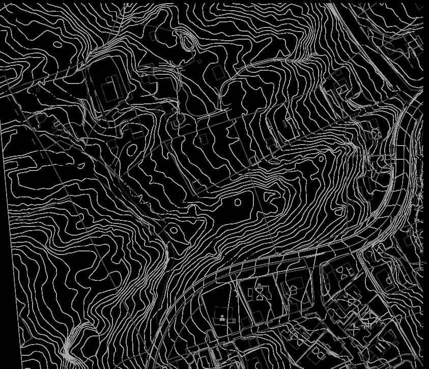 Illustrasjon 1: Utsnitt planområde, avgrensning med stiplet tykk strek.