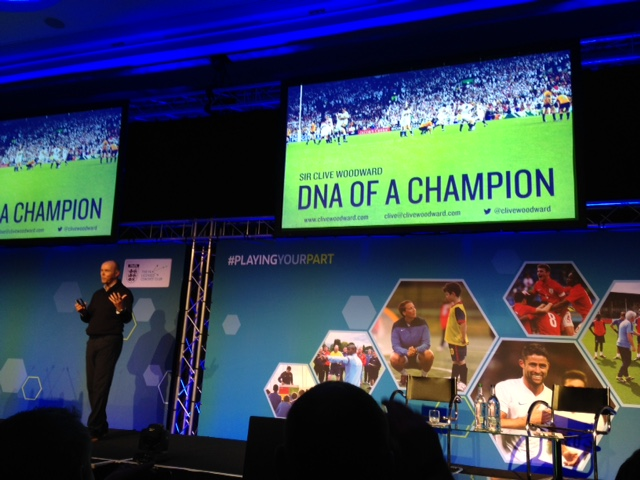 Champion Talk: Sir Clive Woodward shares some of his experiences with delegates at the, 'Playing Your Part' Conference at St George's Park