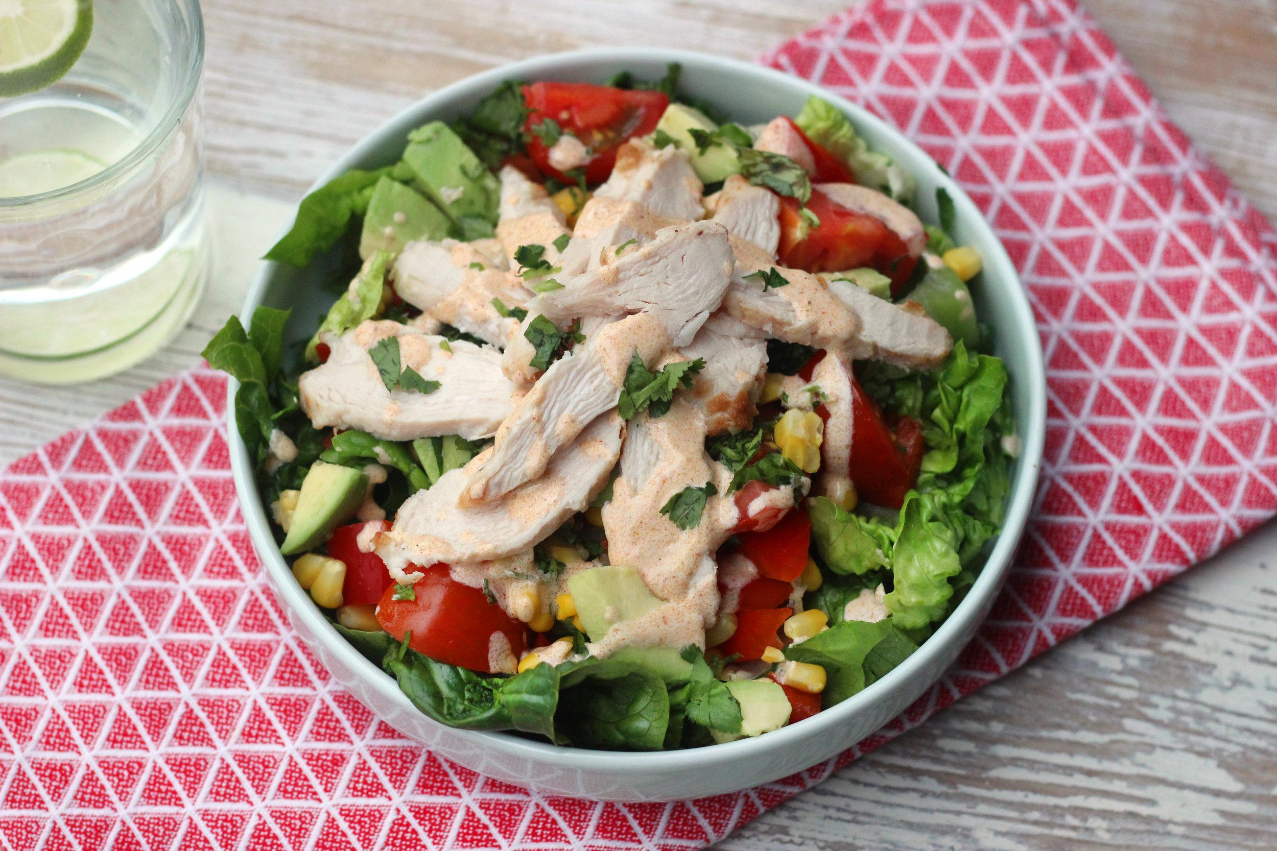 Shredded Southwest chicken salad.JPG