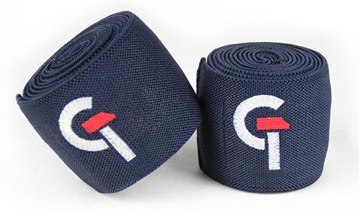 G.TEC Knee Wraps  aus belastbarem Stretch Material für höchste Stabilität. Mit festem Klettverschluss und hochwertigem Stick Logo. Die Gesamtlänge beträgt 170 cm.
