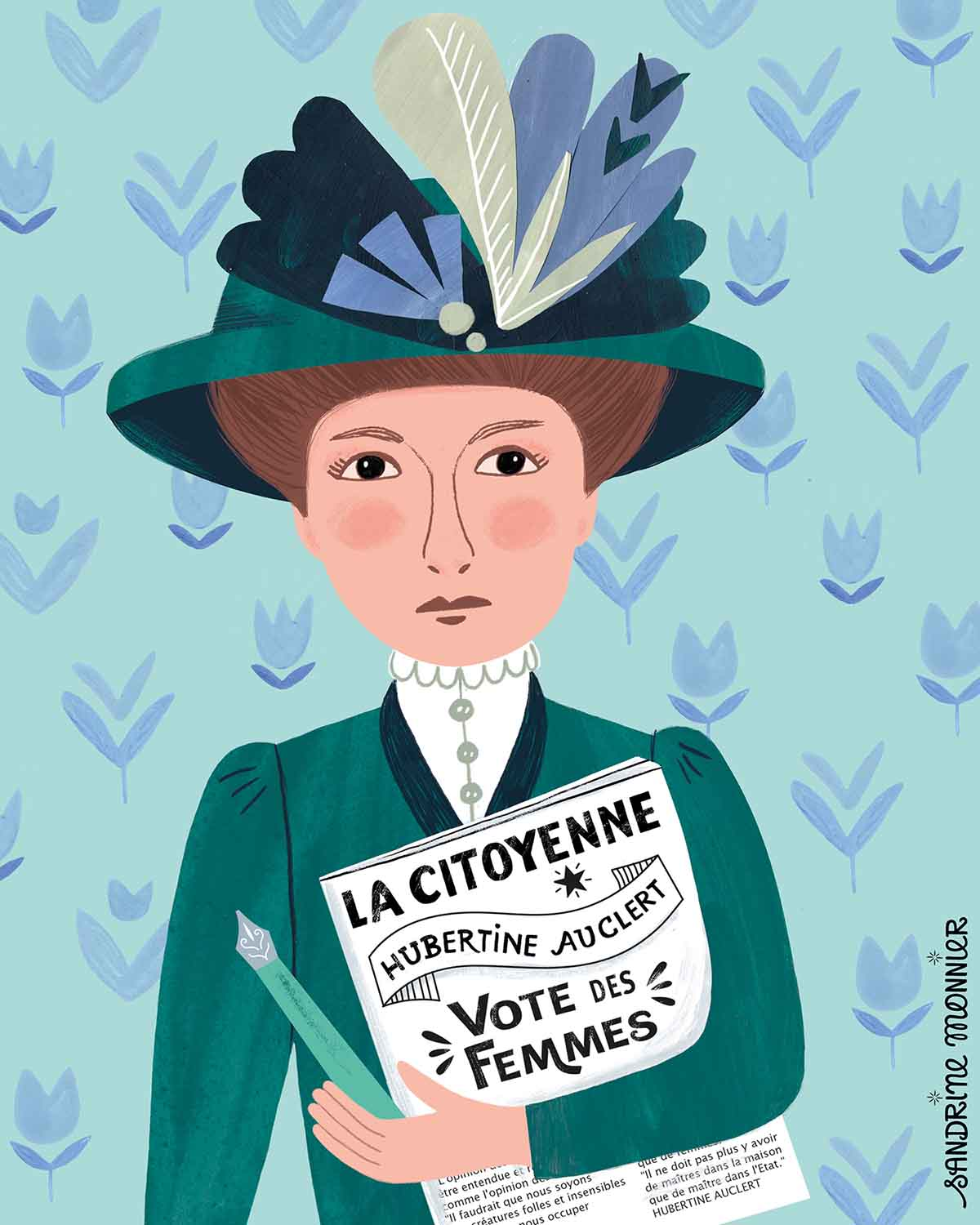 Portrait of Hubertine Auclert the first french suffragette