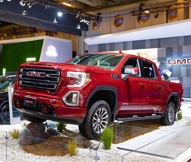 One of our favourite shots of the all new GMC AT4 from the Montreal Auto show. @martythewildmachine