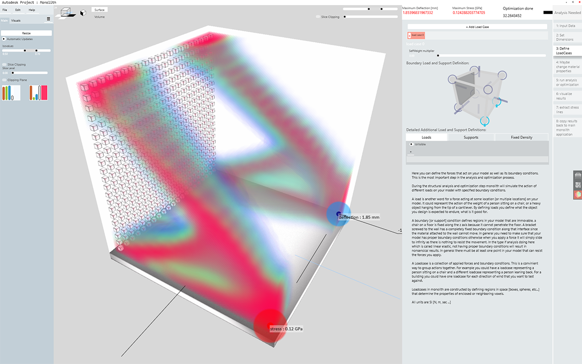 Monolith's structural analysis interface now provides a more intuitive and streamlined simulation process.