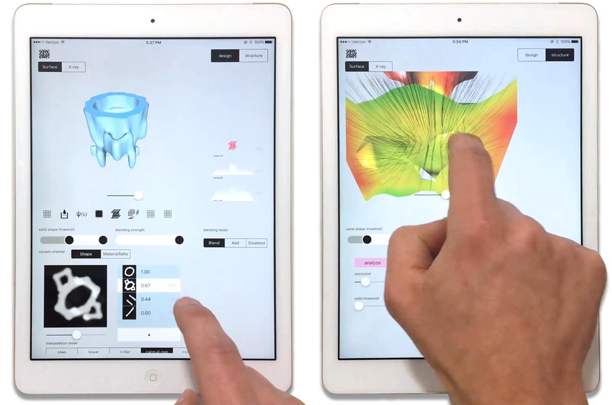 Monolith's core backend technology (Malachite) running on an iPad2.